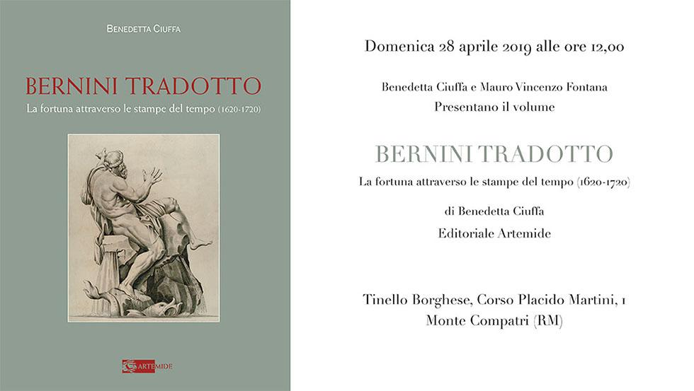Benedetta Ciuffa e Mauro Vincenzo Fontana presentano il libro 'Bernini tradotto' a Monte Compatri - Tinello Borghese - Corso Placido Martini, 4